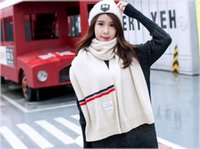 Wholesale Large Knit Scarf - womens winter scarves and wraps woolen yarn knitted scarf for women italian large big scarf 82