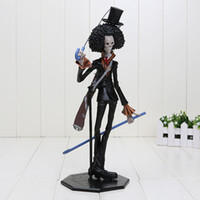 Wholesale Pop Brook - New Japanese Anime Cartoon One Piece Action Figures PVC Toys Doll POP Movie skull cannon Brook