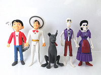 Wholesale Couples Figurines - 2018 new Lot of 5 pcs Coco Movie PVC Action hector Figure Topper Miguel Spirit Guide Dog Dante Imelda Couple Doll Figurine