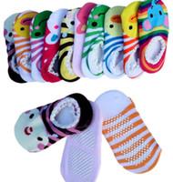 Wholesale Nissen Animal - Hot selling 2016 New NISSEN baby Anti-skid socks baby animal lace socks Toddler socks 50 pair lot