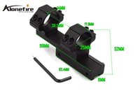 Wholesale Rifle Scope 11mm - AloneFire LB2002 Tactical 25.4mm Ring Mount High Profile Integral Rifle Scope Weaver Picatinny 11mm Rail For Hunting (1PC)
