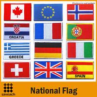 ingrosso cucire la bandiera-Stati Uniti Regno Unito Iron On patch Bandiera nazionale Sew ON PATCH ARMY MORALE MILITARY Ricamato Appliques Accessori fai da te