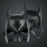 On Sale Half Face Batman Máscaras Halloween Black Mask Cosplay Masquerade Party Mask For Adult Kid frete grátis