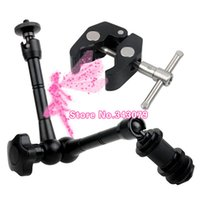 Wholesale Dslr Led Lights - 2 in1 11 Inch Magic Arm and Super Clamp for DSLR LCD Camera Monitor LED light Holder
