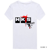Wholesale Hiphop Wholesale Clothes - Wholesale-Summer Brand Car Auto HKS T Shirts Men Cotton Solid Short Sleeve Euro Size T-shirts Tops Tees Man Casual Hiphop Tshirts Clothing