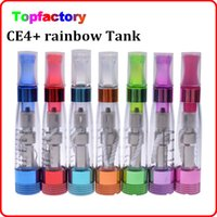 Wholesale Electronic Cigarettes Crystal Batteries - CE4+ rainbow clearomizer colorful crystal drip tip rebuildable ce4 plus atomizer core electronic cigarette for evod ego 510 battery