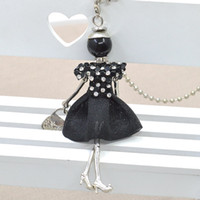 Wholesale Acrylic Doll - 2015The Newest Desgin Arrival !!! Fashion Doll Necklace Retail Wholesale Cute doll Pendant Necklace Populre Necklace&Pendant free shipping