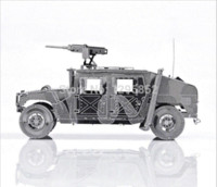P036S Hummer Jeep-Skala Modelle Kinder pädagogische Spielzeug DIY 3D Puzzle Metallic Nano Puzzle 3D Metall-Modell Armen