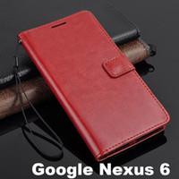 Wholesale Nexus Retro Case - For Moto Google Nexus 6 Vintage Retro Flip Stand Wallet Leather Case With ID Card Holder Photo Frame Cover Stand For Motorola Nexus6