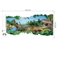 paquete de pegatinas para niños al por mayor-3D View Cartoon Dinosaur Wall Sticker Decal Boyes Habitación Infantil Nursery Wall Decor Jurassic Pack Dinosaurios Wallpaper Sticker Posters