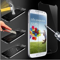 Wholesale Galaxy S4 Anti Retail - Tempered Glass Screen protector With Retail Package 9H 0.26MM 2.5D for Samsung Galaxy S4