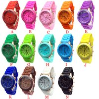 Wholesale Cheap Silicone Watches For Women - Wholesale-Factory Price New Cheap Silicone Band Quartz Jelly Wrist Watches For Women Ladies Girls