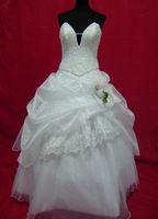 Wholesale Allure Mermaid - Allure White Organza Floor Length Handmade Bride Wedding Dress Plus size dress