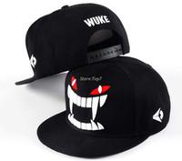 ingrosso cappellini da baseball in stile coreano-Nuovo stile coreano snapback lettera WUKE berretto da baseball regolabile hip hop piatto basket calcio cappello per gli uomini donne