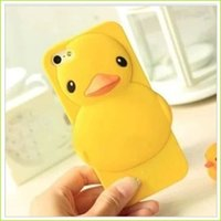 Wholesale Cheap Fashion Phone Cases - Cheap Cell Phone Cases For Ipad Mini 1 Mobile Cells For Ipad Mini Fashion Shell Phone Case Yellow Animal Duck Covers