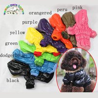 Wholesale Cute Dog Hoodies - Clothing for small dogs colorful winter dog coats down jacket waterproof yorkies clothes cute puppy clothes hoodies for dogs LL001