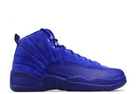 Wholesale Outdoor Games For Kids - 2018 Mens Kids Air Retro 12 Red Flu Game Chinese New Year Taxi Gamma Blue Basketball Shoes Sneakers for Kids Outdoor Sports Shoes Size36-47
