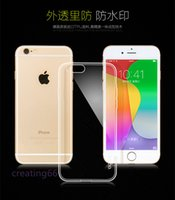 """Wholesale Rubber Iphone 5s Covers Clear - Clear TPU Transparent Soft Case Rubber Cover Silicone Cases for 4.7"""" 5.5"""" iPhone 4 4S 5 5S 5C 6 6+ Plus Samsung S5 S6 Edge Free Shipping"""