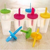 кубики льда кубики льда оптовых-Замороженные мороженое поп плесень эскимо чайник Лолли плесень лоток Пан кухня DIY мороженое модель льда куб лоток