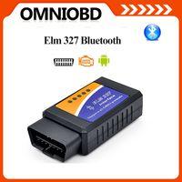 Wholesale Obdii Bluetooth Torque - 10PCS lot Hottest Works On Android Torque V1.5 elm327 bluetooth ELM 327 Interface OBD2   OBD II v1.5 Auto Car Diagnostic Scanner tool OBDII