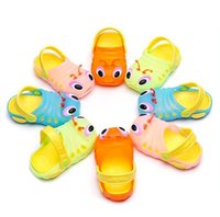 Wholesale Caterpillar Shoes Cartoon - Wholesale-2015 Summer children's cartoon caterpillar jelly sandals and slippers hole shoes garden sandals for boys and girls free