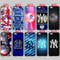 Wholesale Yankees Fitted - New York Yankees For iPhone 6 6S 7 Plus SE 5 5S 5C 4S iPod Touch 5 For Samsung Galaxy S6 Edge S5 S4 S3 mini Note 5 4 3 phone cases