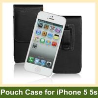 iphone flip kemer çantası toptan satış-Toptan Apple iPhone 5 5 s Durumda Kemer Klipsi PU Deri Dikey Çevir Kılıf Apple iPhone 5 5 s Ücretsiz Nakliye için Ücretsiz Nakliye