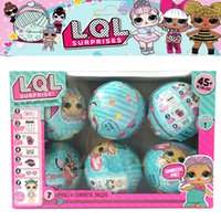 6pcs / Set Lol Dolls Sorpresa Ball Change Egg Dress Up Acqua Action Figure Rimovibile Lql Boneca Doll Fun Toys Per ragazze Regali
