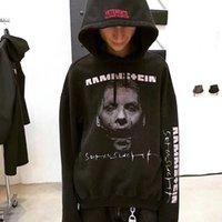 Wholesale Character Coats - 17FW VETEMENTS Rammstein men Hoodies 1997 Sehnsucht Pattern Couple Top Oversize Coats Hooded Fashion Hip Hop brand hoodie