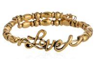 Wholesale Alex Ani Love Wrap - Alex&Ani antique silver gold plated simple Heart Love Wrap charms and beads Alex and Ani Bangles beaded luckly bracelet for women