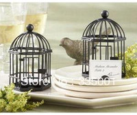 Wholesale Love Songs Birdcage - New arrival--14PCS  LOT Wedding favor Love Songs Birdcage soy Tea Light Place Card Holder