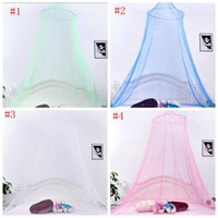 Wholesale Mosquito House - Elegant Round Lace Insect Bed Canopy Netting Curtain Dome Mosquito Net New House Bedding Decor YYA783