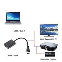 Wholesale Mini Hdmi Projector Cable - USB 3.0 to HDMI Converter USB3.0 to HDMI Graphic Adapter Multi Display Cable for PC Notebook Projector HDTV HD 1080P