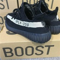 Wholesale Womens Cheap Football Boots - 2017 High Quality Cheap BOOST 350 V2 By Kanye West Black Running Shoes Sply 350V2 Mens Womens Outdoor Sneakers 350V2 SPLY EUR 36-48