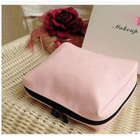 Wholesale High Fashion Brands Makeup - In stock Lady Brand Makeup Bag Popular PU Cosmetic Cases Fashion High-grade Pink Enchanting Clutches With Box Gift