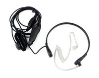 Wholesale Black Throat Mic - 6 Pin PTT Throat MIC Covert Acoustic Tube Earpiece for Motorola Radio HT750 GP328 GP329 PRO5150 Black C0010A Alishow