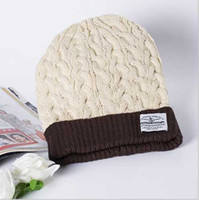 Wholesale Adult Beanie Skull Cap - Wholesale Fashion Rib Beanie Hats Plain For Adults Popular Winter Hats For Woman And Men Sport Skull Cap Beanie Free Shipping