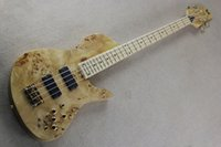 Wholesale one piece bass neck resale online - New Arrival Hot Sale Imperial Bass One Piece Maple Neck through the White Ash Body Butterfly Strings Electric Bass Guitar