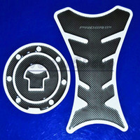 Wholesale Nsr 125 - Motorcycle Carbon Fiber Fuel Tank Pad Decal Protector Stickers Carbon Fiber Fuel Gas Cap Cover For CBR NSR VTR 125 250 400