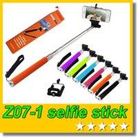 kamerahalterclip großhandel-Kleinkasten Z07-1 Selfie Stock Handheld Einbeinstativ + Clip Halter für Handy Action Kamera Sport DV