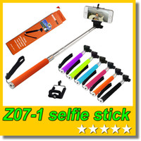Wholesale Stainless Cell Phone - Retail box Z07-1 Selfie stick Handheld Monopod + Clip holder for Cell Phone Action Camera Sport DV