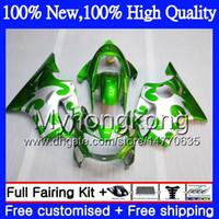 Wholesale Cbr F4 Fairings - Body Motorcycle For HONDA CBR600F4 CBR600 F4 99 00 Silver flames FS 44MY7 CBR 600F4 99 CBR600 FS CBR600FS CBR 600 F4 1999 2000 Fairing kit