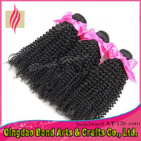 Wholesale Express Shipping Hair - Wholesale weave - DHL express Free Shipping 10-32inch jet black Color Brazilian afro kinky curl Virgin Human Hair Extensions 3 pcs lot