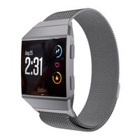 Wholesale Ionic Magnetic Bracelets - For Fitbit Ionic Milanese Loop Colorful Watchband Magnetic Milanese Loop Metal Bracelet Band Watch Band Stainless Steel Wrist Strap Bracelet