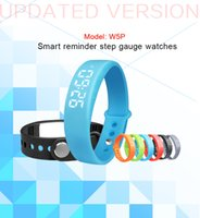 Wholesale Cheapest Smart Watches - Cheapest W5P intelligent reminder 3D pedometer watches new sports silicone health monitoring smart bracelet For iPhone Samsung Android IOS