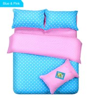 Wholesale-12 tipi Pois copripiumino Blu / verde / viola / rosa Patchwork Consolatore Set per Super King / re / regina / Full / Twin Size Bedding