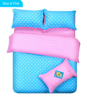 Wholesale Purple Twin Comforter Sets - Wholesale-12 Types Polka Dot Duvet Cover Blue Green Purple Pink Patchwork Comforter Set for Super King King Queen Full Twin Size Bedding