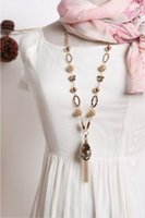 Wholesale El Necklace - Wholesale! big star style large crystal pendant metal tassel long chain Necklace NL380 el collar