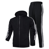 Wholesale Cardigan Manufacturers - Spring and summer sports suit suits men and women with sweater hooded manufacturers value of the pin style sports hood