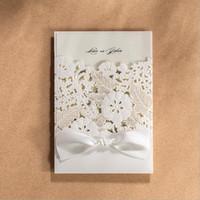 Beautiful wedding invitation cards australia new featured beautiful wedding invitation cards australia white floral laser cut ribbon bow decor invitation card 2016 stopboris Images